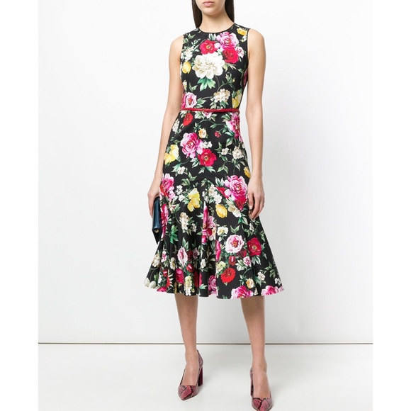 6ee06ecb Dolce & Gabbana Dresses | Dolce Gabbana Floral Peony Cotton Dress 40 ...